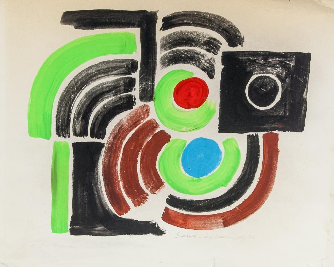 Sonia Delaunay French Abstract Mixed Media