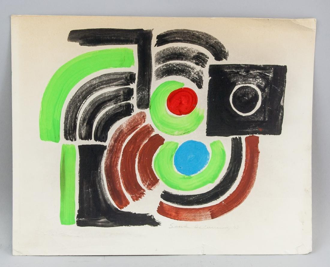 Sonia Delaunay French Abstract Mixed Media - 2