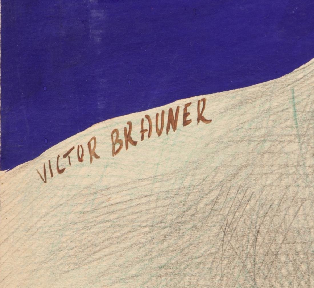 Victor Brauner Romanian Surrealist Pencil on Board - 4