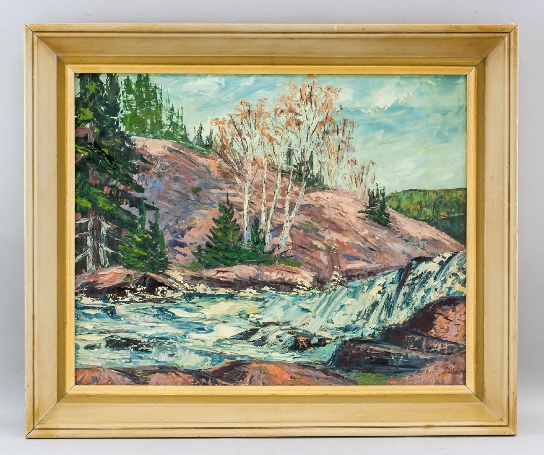 Oil on Canvas Landscape Signed Culin - 2