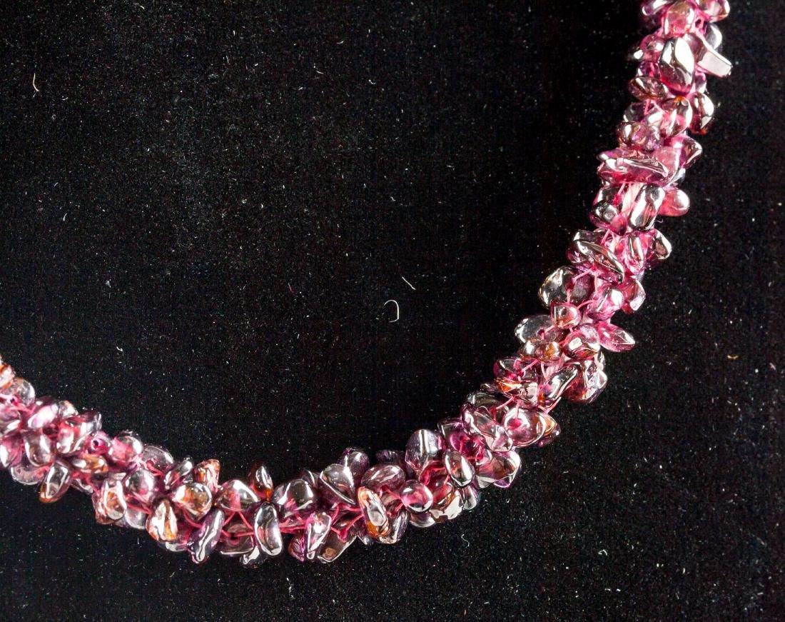 Beaded Garnet Necklace - 2