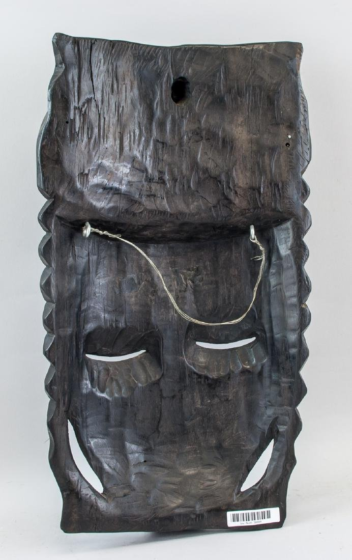 African Black Wood Carved Woman Mask - 5