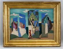 Leopold Survage French Cubist Oil on Canvas