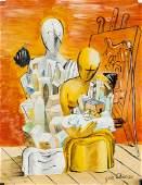 Giorgio de Chirico Italian Surrealist Tempera