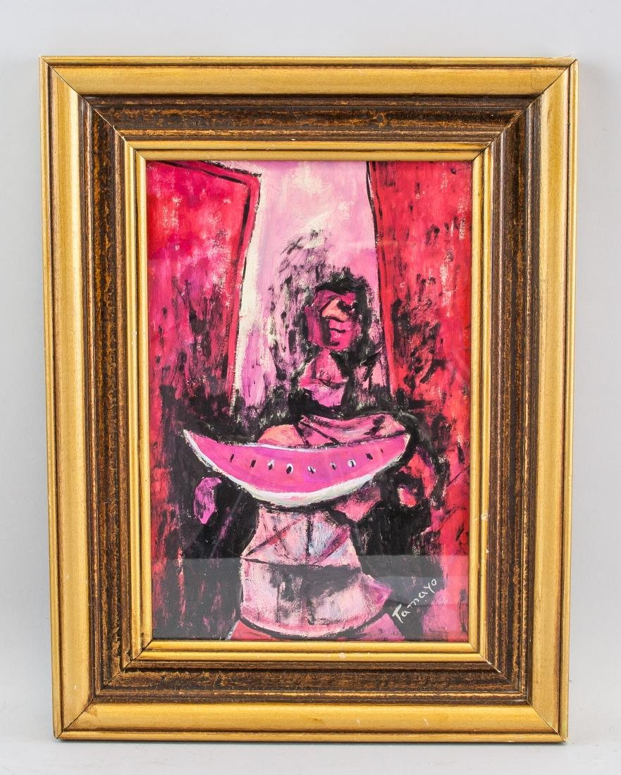 Rufino Tamayo Mexican Surrealist Acrylic on Board - 2
