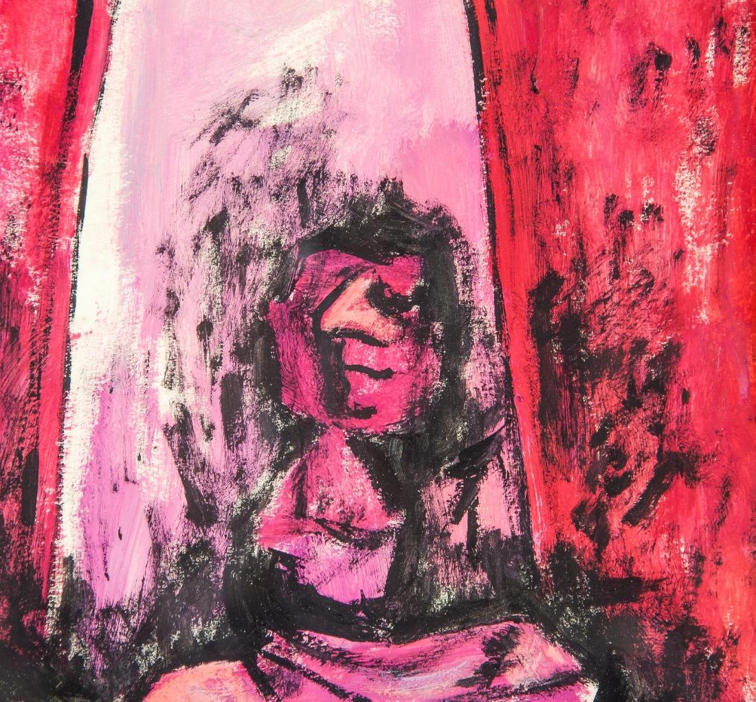 Rufino Tamayo Mexican Surrealist Acrylic on Board - 3