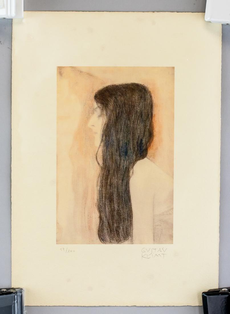 Gustav Klimt Austrian Signed Lithograph 19/100 - 2