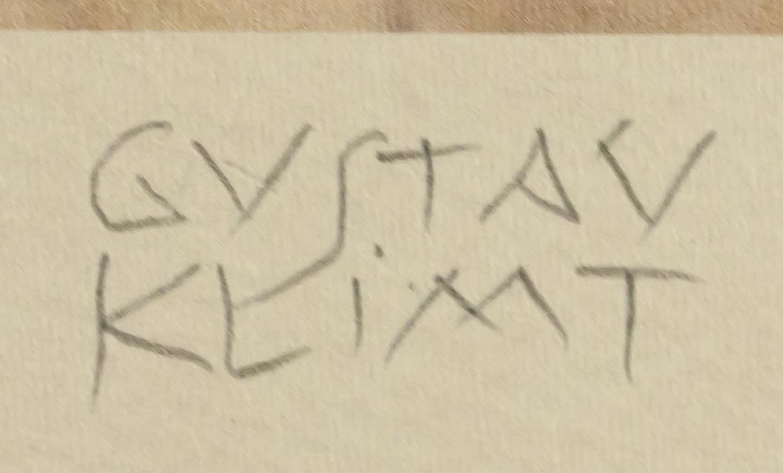 Gustav Klimt Austrian Signed Lithograph 19/100 - 4
