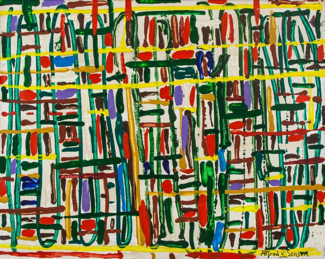 Alfred Jensen American Abstract Oil on Canvas