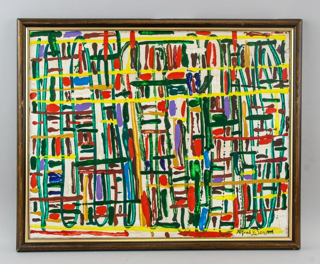 Alfred Jensen American Abstract Oil on Canvas - 2