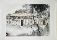 Yang Shanshen 1913-2004 Chinese Watercolor Village