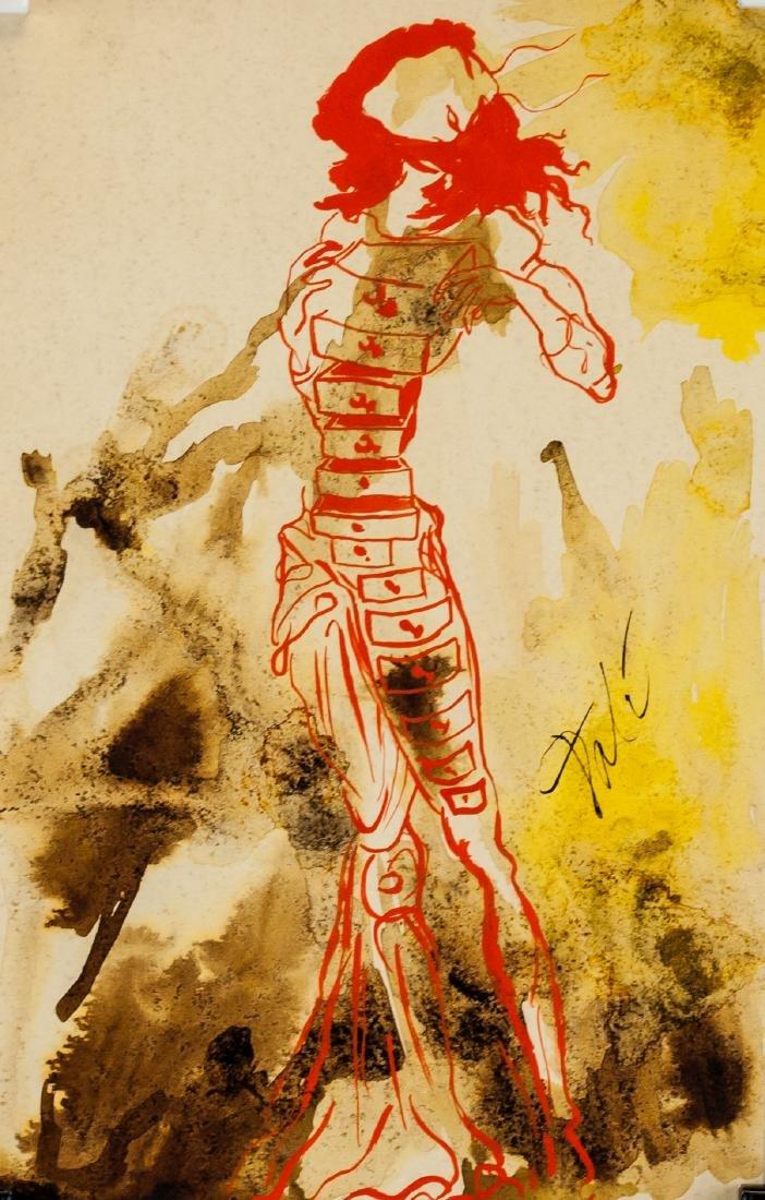 Salvador Dali Spanish Surrealist Mixed Media Paper