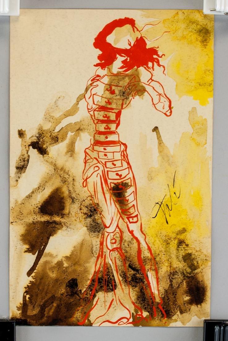 Salvador Dali Spanish Surrealist Mixed Media Paper - 2