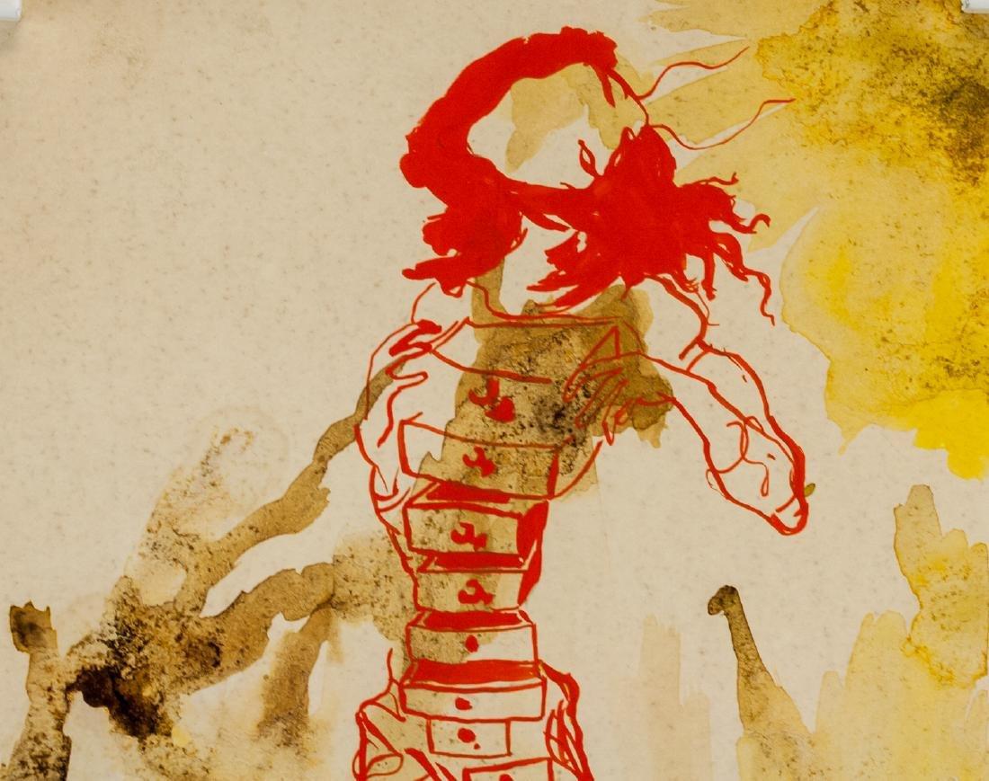 Salvador Dali Spanish Surrealist Mixed Media Paper - 3