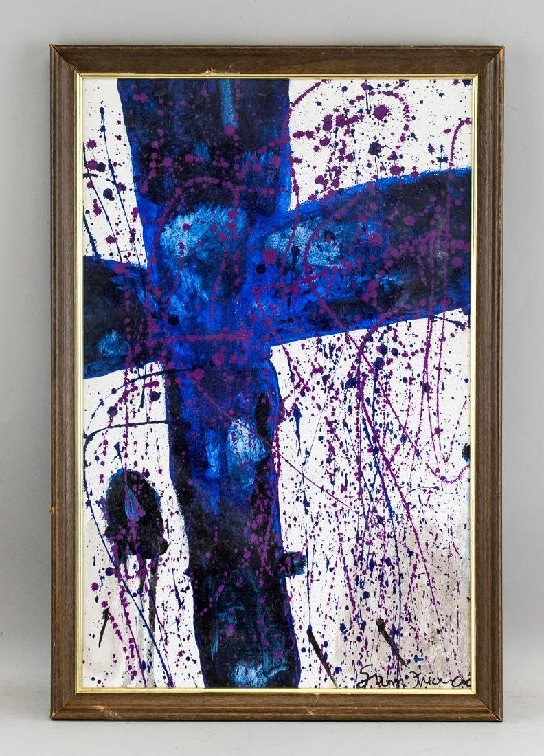 Sam Francis American Abstract Oil on Canvas - 2
