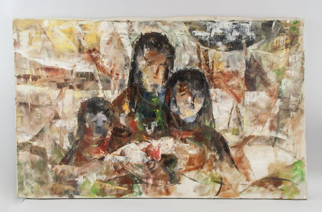 Shoo Ching Wang 20th Century Chinese Oil on Canvas - 2