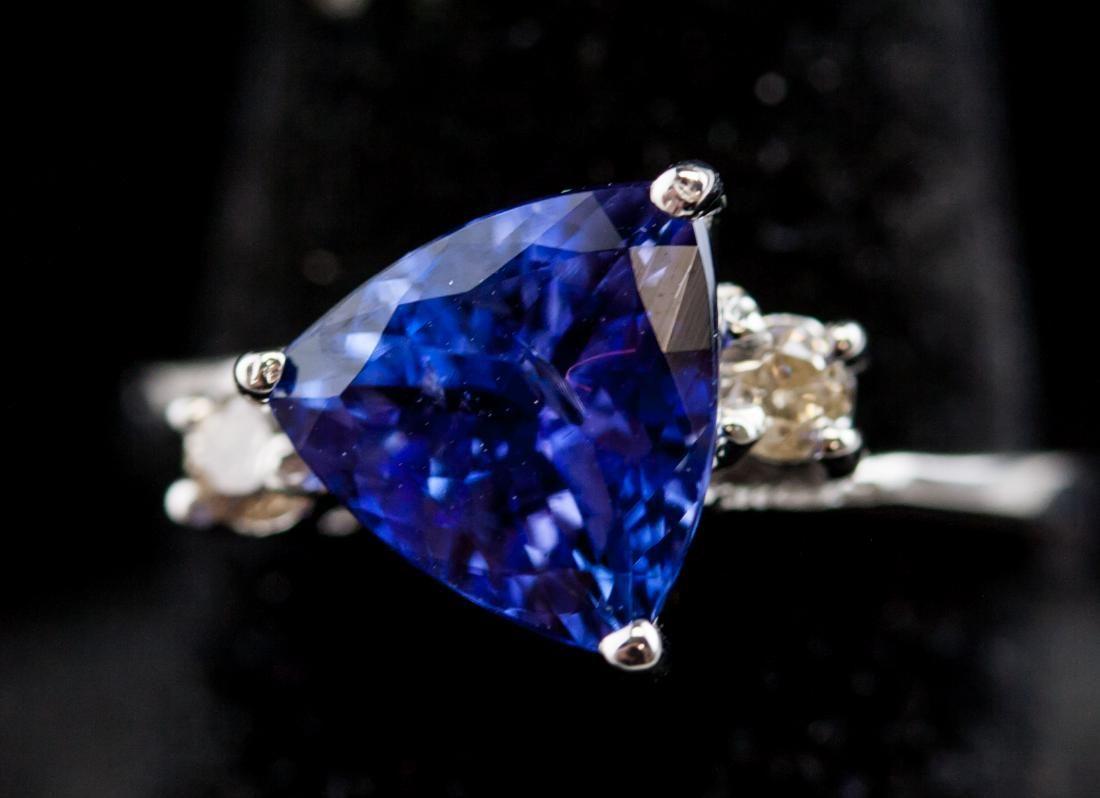 2.60ct Tanzanite & Diamond Ring CRV $2700