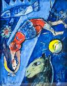 Marc Chagall French Surrealist Oil on Paper