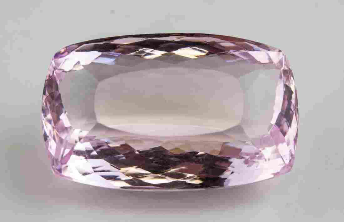 147.9 Ct Pink Cushion Cut Amethyst Certificate