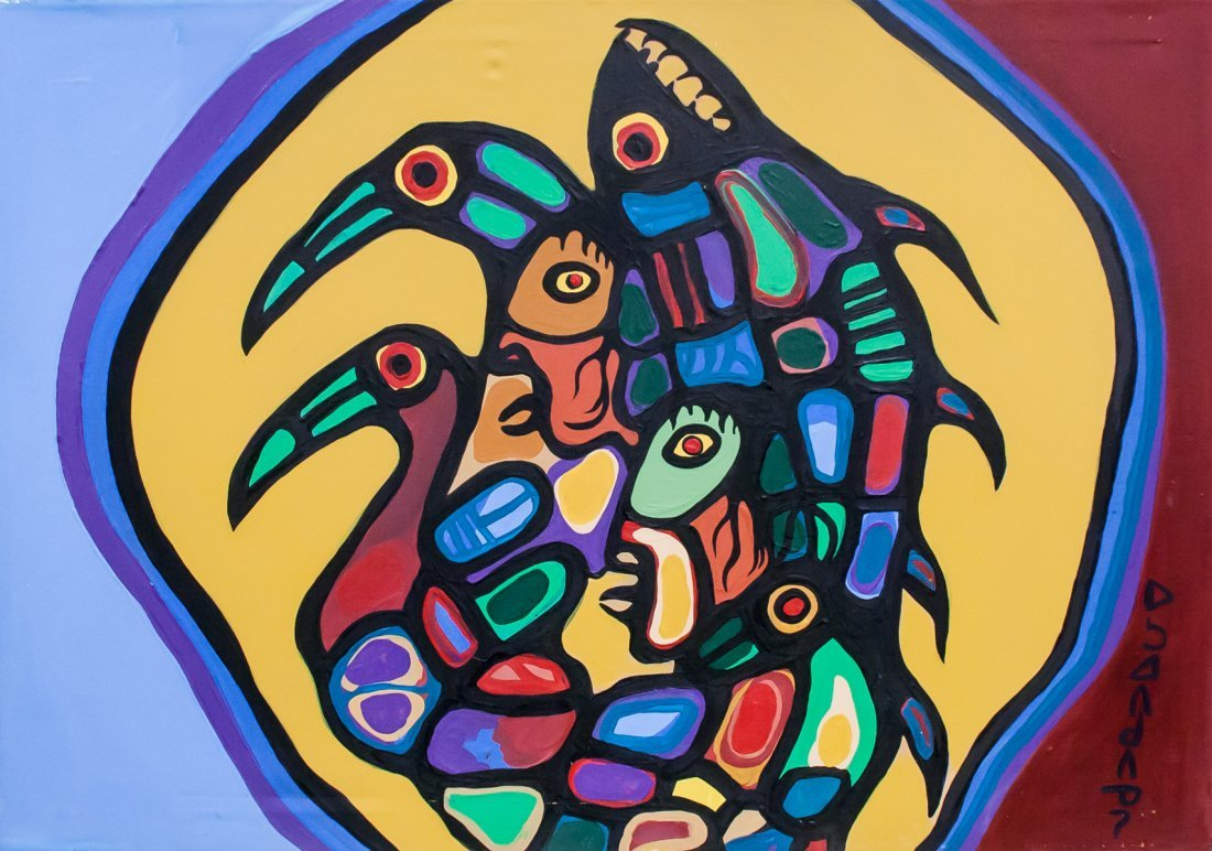 Norval Morrisseau 1932-2007 Canadian Acrylic 1981