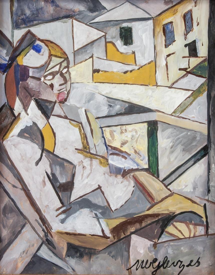 Albert Gleizes French Avant-Garde Gouache Paper