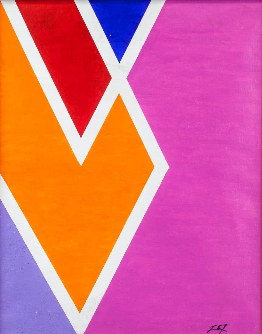 Larry Zox American Abstract Oil on Canvas