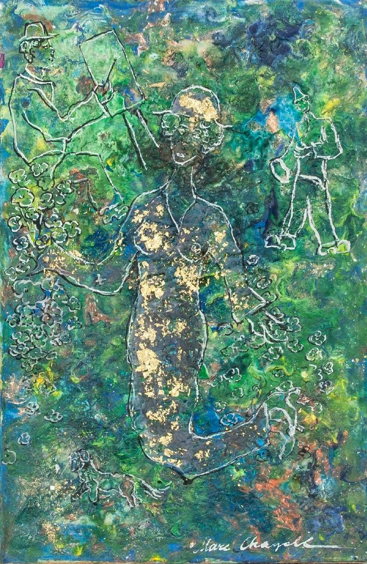 Marc Chagall Russian-French Surrealist Mixed Media