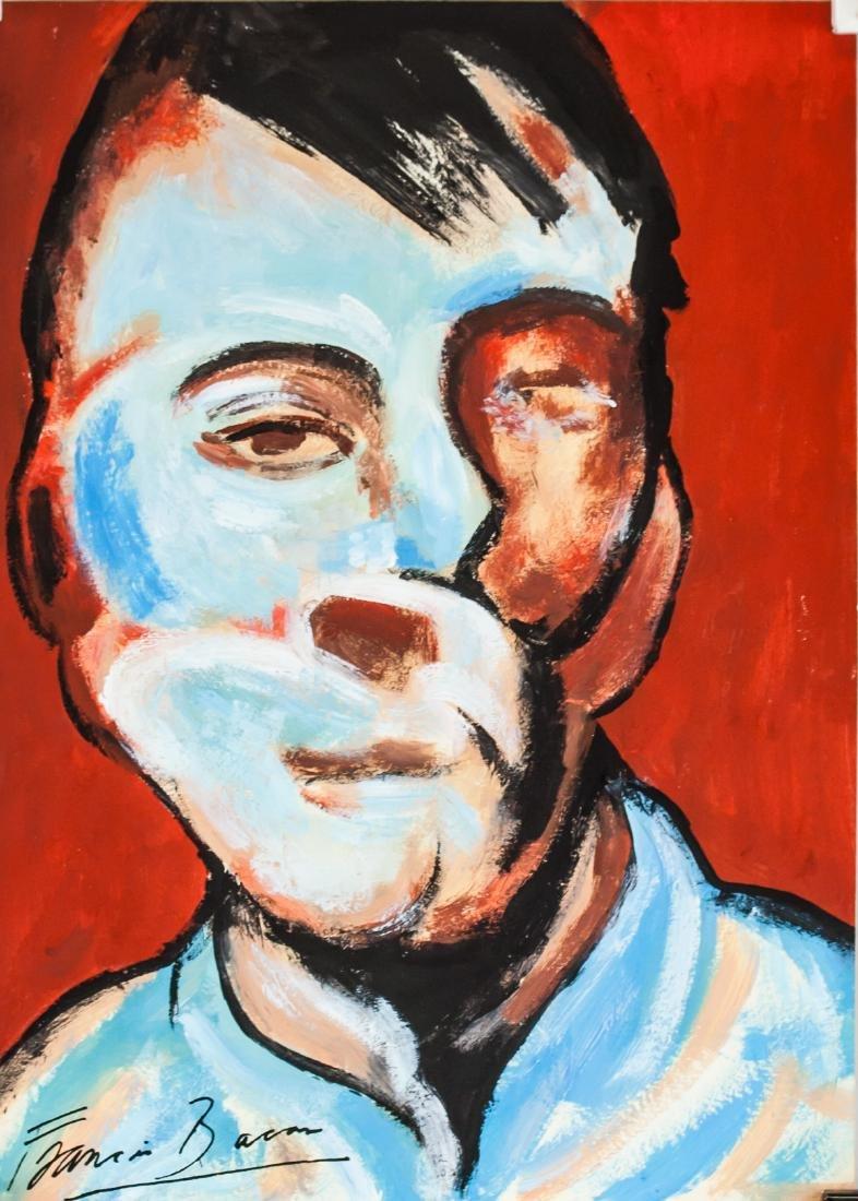 Francis Bacon British Surrealist Gouache on Paper