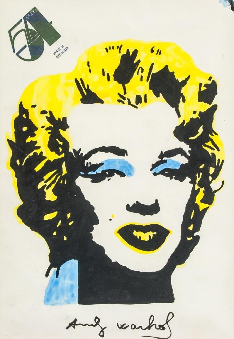 Andy Warhol US Pop Art Marilyn Monroe Gouache