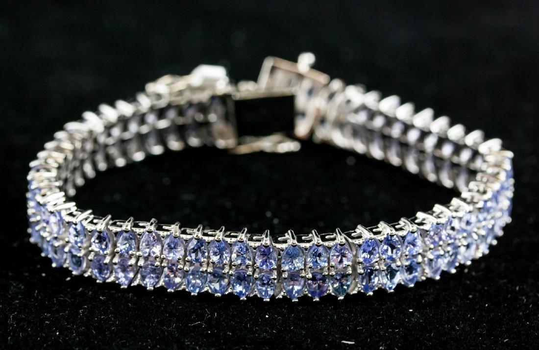 14.25Ct Tanzanite Sterling Silver Bracelet CRV1900