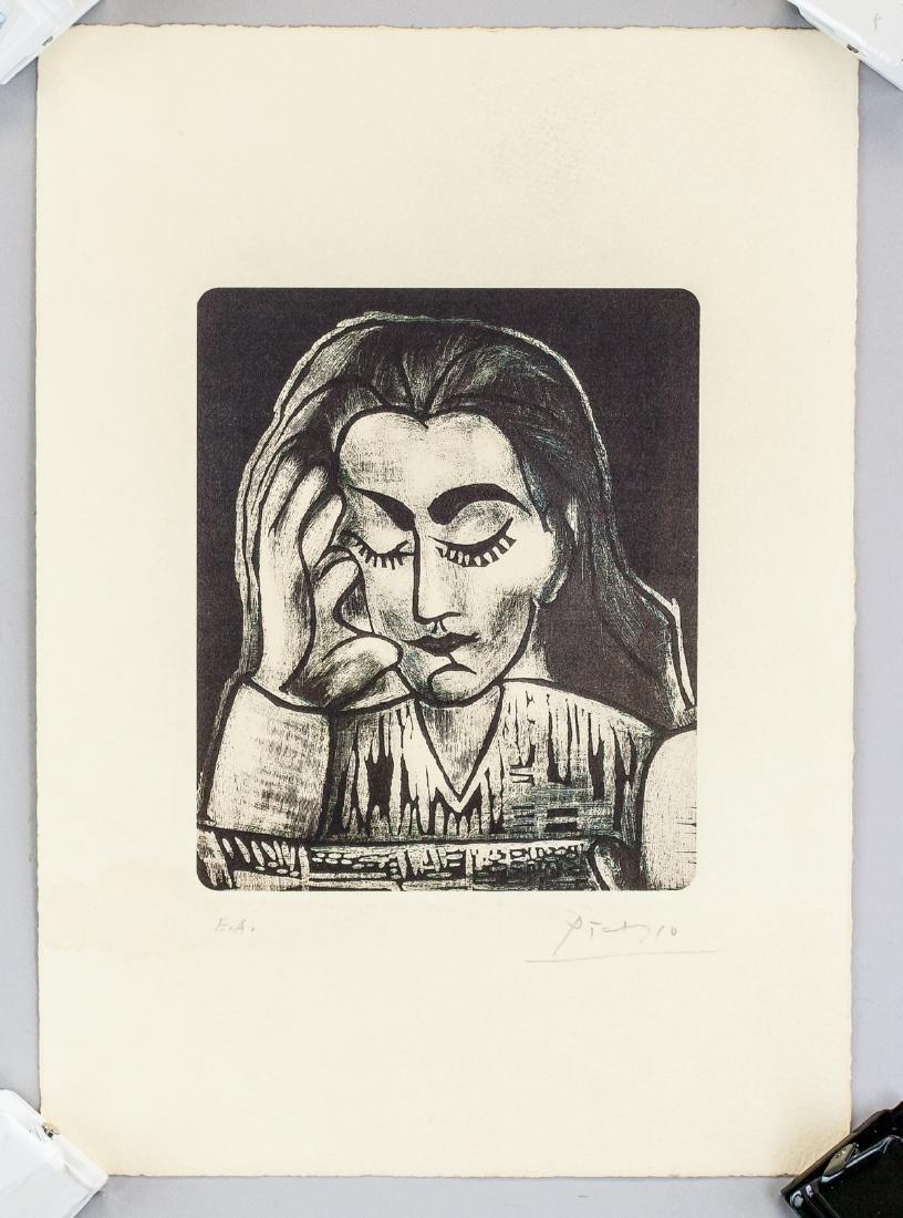 Pablo Picasso Spanish Cubist Signed Linocut