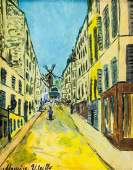 Maurice Utrillo French Paris School Tempera Paper