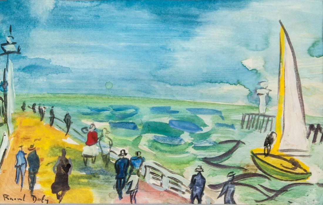 Raoul Dufy French Fauvist Gouache on Paper