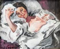 Lovis Corinth German Expressionist Oil on Paper