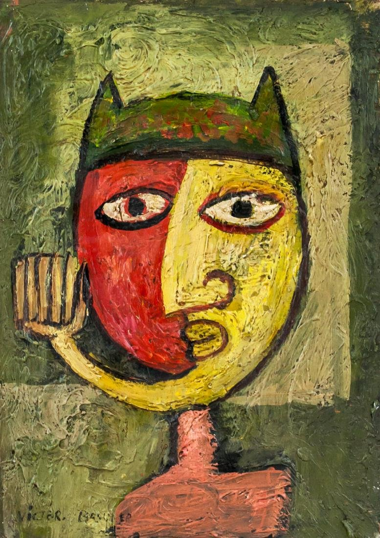 Victor Brauner Romanian Surrealist Oil on Panel