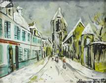 Maurice Utrillo French Paris School Tempera