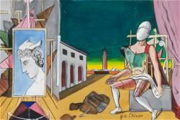 Giorgio de Chirico Italian Surrealist Gouache