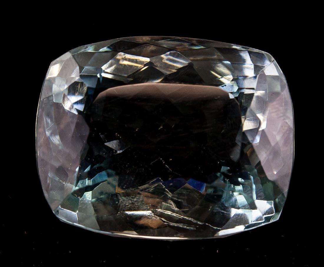 100.10ct Natural Aquamarine Gemstone Certificate