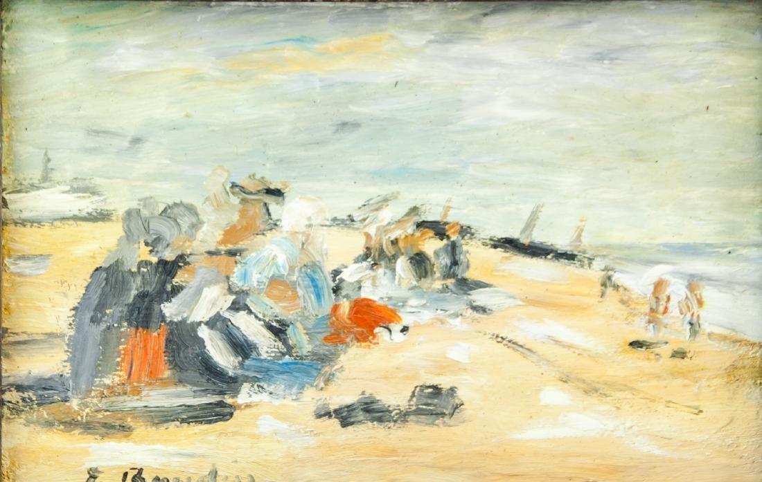 Eugene Boudin French Impressionist Oil on Canvas