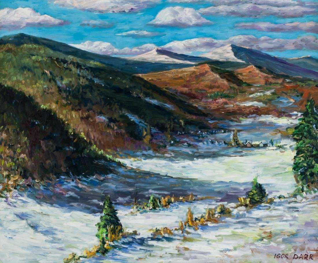 Igor Darr Canadian born 1959 School Oil on Canvas