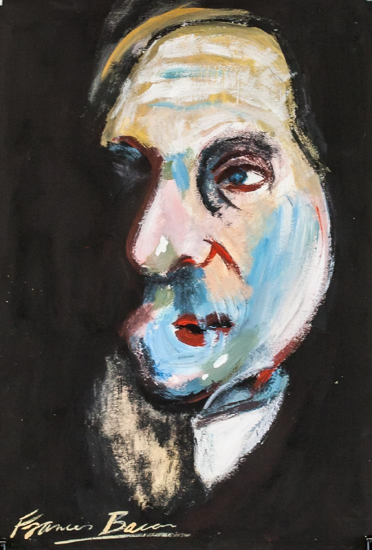 Francis Bacon British Expressionist Oil on Paper