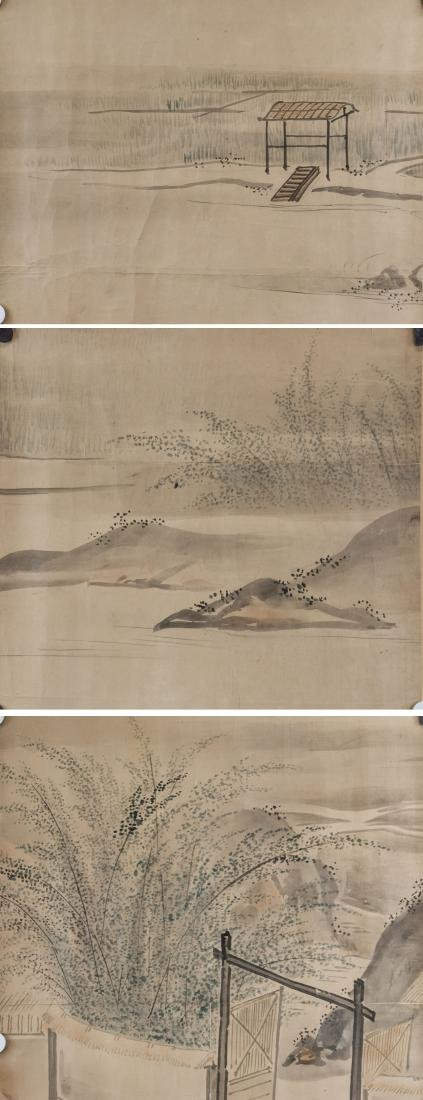 18th Century Chinese Watercolor Paper Signed