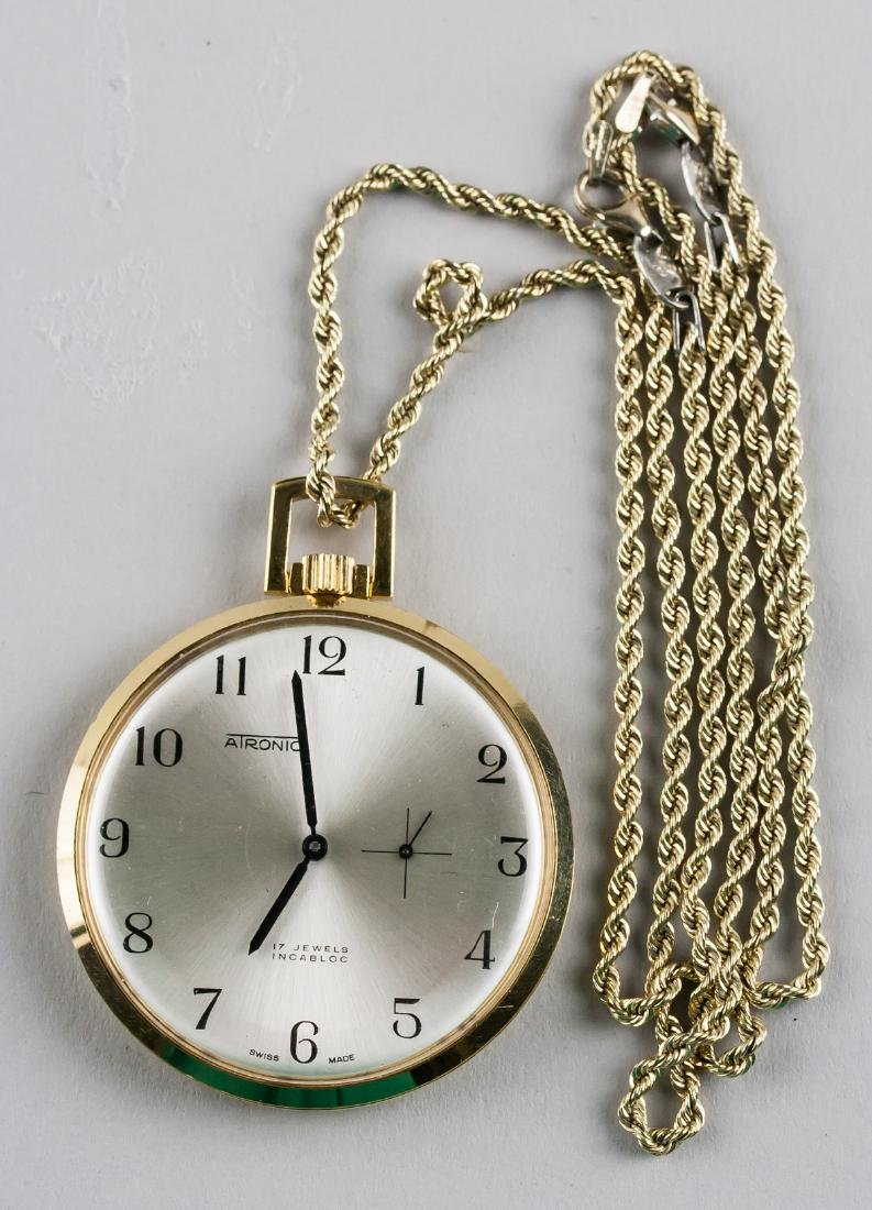 14k Gold Atronic 17 Jewels Pocket Watch