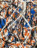 Jackson Pollock American Abstract Oil on Canvas