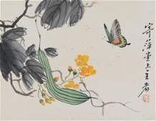 Qi Baishi 1864-1957 Chinese Watercolor on Paper