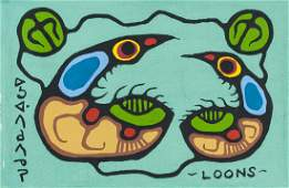 Norval Morrisseau 1932-2007 Canadian Acrylic 1979