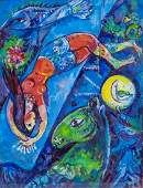 Marc Chagall RussianFrench Surrealist Oil