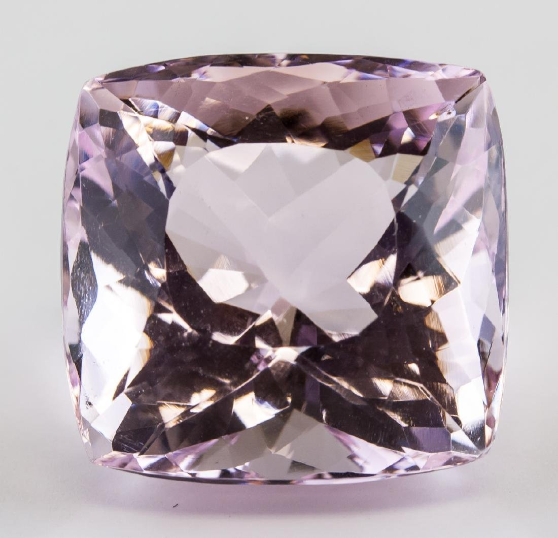88.4 Ct Cushion Cut Pink Amethyst AGSL Certificate