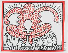 Keith Haring US Pop Art Marker on Paper Figures
