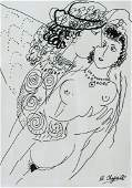Marc Chagall French Surrealist Mixed Media